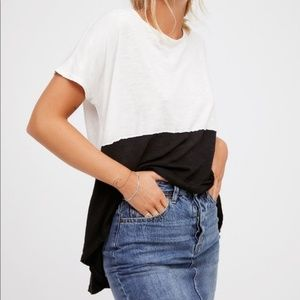 Free People Tops - Free People We the Free Midnight Colorblock Tee